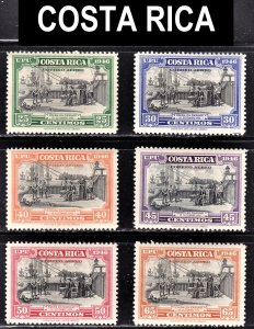 Costa Rica Scott C148-53 complete set F to VF mint OG H or HR.