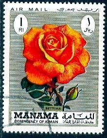 Rose, Bettina, Manama stamp used