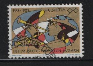 SWITZERLAND, 821, USED, 1988 Intl. music festival Lucerne 50th anniv.