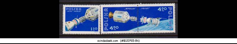 POLAND - 1975 APOLLO SOYUZ SPACE TEST PROGRAMME - 3V - MINT NH