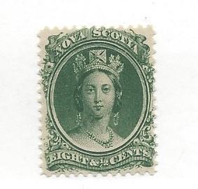 Canada (Nova Scotia), 11, Queen Victoria Single, Hinged