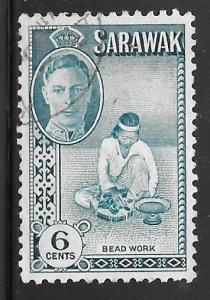 Sarawak 184: 6c Bead work, used, F-VF