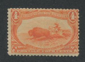 1898 US Stamp #287 Mint Hinged Fine Disturbed Original Gum Catalogue Value $100