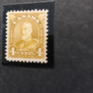 Canada 2016 Scott #168 Mint F-NH Cat. US$30 1930 KGV 4c Yellow Bistre  O,G.