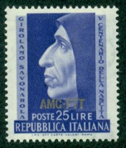 Trieste #153  Mint  VF NH  Scott $3.25  Savanarola