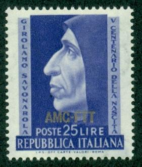 Trieste #153  Mint  VF NH  Scott $3.25  Savanarola