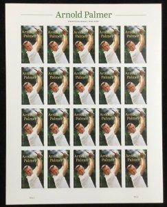 5455    Arnold Palmer Golf     MNH Forever sheet of 20     FV $11.00     In 2020