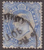 India 64 Hinged Used 1902 King Edward VII