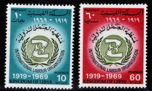 Libya Scott 362-363 MNH** ILO set
