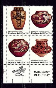 U.S. 1709a MNH 1977 Pueblo Art Zip Code Block of 4