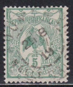 New Caledonia # 91, Kagu Bird, Used, 1/3 Cat.