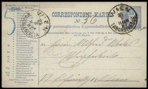 Austria Empire Rohrpost Pneumatic Mail Postal Stationary Card G69929