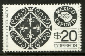 MEXICO Exporta 1175, $20P Wroght iron Wmkd Fosfo Paper 2 MINT, NH. VF.