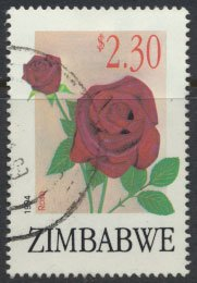 Zimbabwe SG 881  SC# 713  Used  Export Flowers   see detail and scan