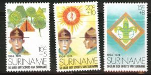 Suriname Scott B208-210 MNH** 1974  semi-postal Scout set