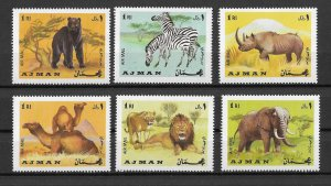 Ajman MNH Set Of African Animals