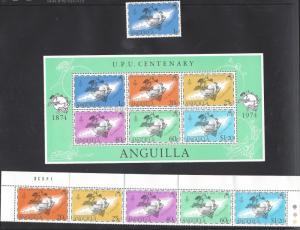 Anguilla, 199-203a, UPU Emblem, **MNH**