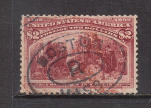USA #242 Used Fine - Very Fine With Nice Boston Cancel