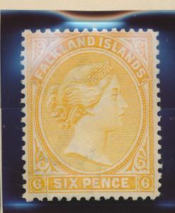 Falkland Islands Stamp Scott #16, Mint Lightly Hinged - Free U.S. Shipping, F...