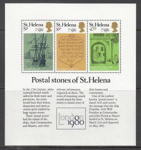 St. Helena MNH S/S 340a Postal Stones Of St. Helena 1980