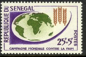 SENEGAL 1963 FREEDOM FROM HUNGER SEMI POSTAL Issue Sc B17 MNH
