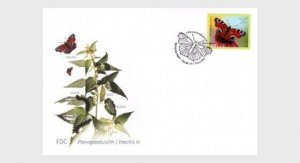 2014  ESTONIA  -  SG: 740 - LEPIDEPTEROLOGIST SOCIETY ANNIV. - BUTTERFLIES - FDC
