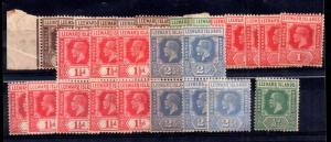Leeward Islands KGV mint unchecked collection x 27 values WS12007