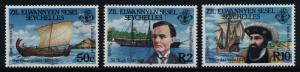 Seychelles - Zil Elwannyen Sesel 111-3 MNH Ships, Vasco de Gama, Hugh Scott