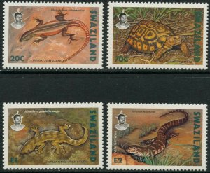 SWAZILAND Sc#596-599 1992 Reptiles Complete Set OG Mint NH