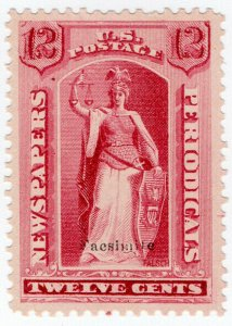 (I.B) US Postal Service : Newspapers & Periodicals Stamp 12c