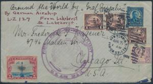 #557 // #C11 ON LZ127 1ST ROUND THE WORLD FLIGHT COVER TO USA BS193