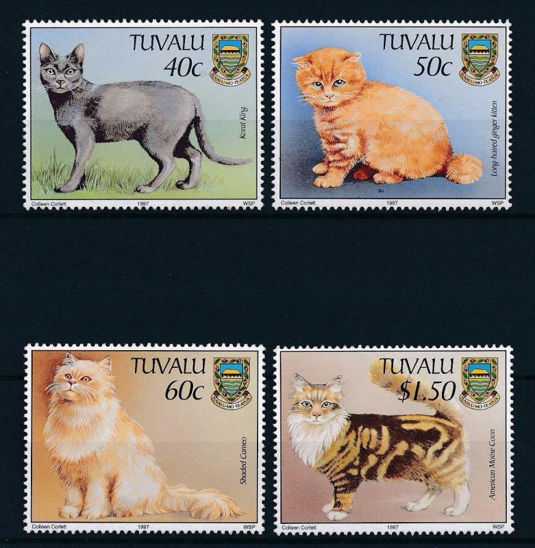 [27464] Tuvalu 1997 Animals Cats MNH