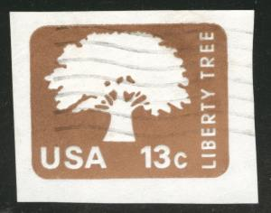 US Envelope cut square Scott U576 Liberty Tree used