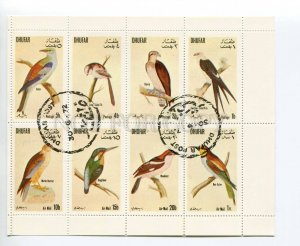 266508 DHUFAR 1972 used S/S BIRDS