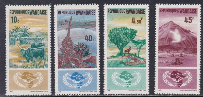 Rwanda # 126-129, International Cooperation Year, NH, 1/2 Cat