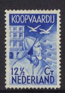 Netherlands  #B65  1933  used Seaman`s fund 12 1/2  ct blue