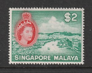 Singapore a MNH QE2 $2 from 1955