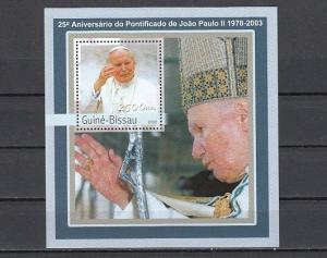 Guinea Bissau, Mi cat. 2061, BL382 A. Pope John Paul II s/sheet.