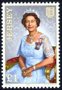 Jersey Sc# 389 MNH 1985-1991 £1 Queen Elizabeth II 60th