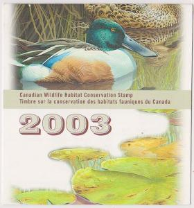 Canada - 2003 Wildlife Conservation Booklet #FWH19