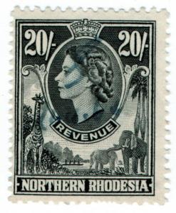 (I.B) Northern Rhodesia Revenue : Duty Stamp 20/-