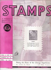 Stamps Weekly Magazine of Philately December 16, 1933 Stamp Collecting Magazine