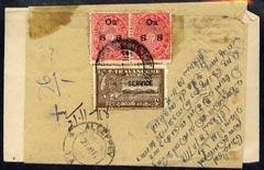 Indian States - Travancore 1918 wrapper bearing various O...
