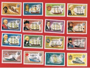 Barbuda #113//129  MNH OG  Ships  Free S/H