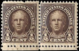 653 Mint,OG,NH... Pair... SCV $0.70