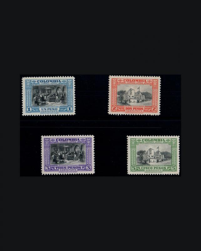 VINTAGE: COLOMBIA 1941OG NH SCOTT C121-133 $125 EST NH  LOT #COL1941F