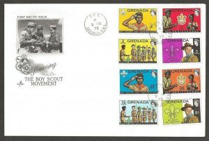 1972 Grenada Boy Scouts BadenPowell 65th anniv FDC Artcraft