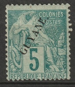 French Guiana 1892 Sc 21 MH* some disturbed gum