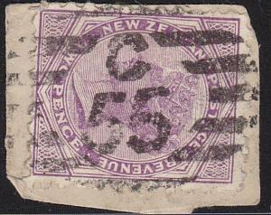 NEW ZEALAND QV SFS 2d C/55 cancel of Temuka................................68371
