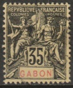 Gabon 1906 Sc 25 Yt 25 used